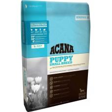 Acana Puppy Small Breed GRAIN FREE - суха храна за подрастващи кученца от малките породи с месо от Пиле, Яйца и Риба, Канада - 6 кг