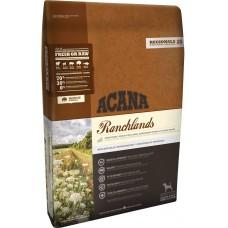 Acana Ranchlands GRAIN FREE - суха храна за кучета с говеждо, агнешко, свинско, бизонско месо и риба, за всички породи и възрасти, Канада - 11,4 кг