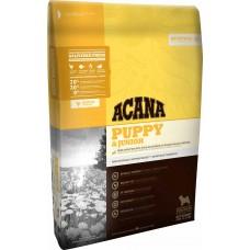 Acana Puppy & Junior GRAIN FREE - суха храна за подрастващи кученца от малките и средни породи с месо от Пиле, Яйца и Риба, Канада - 11,4 кг