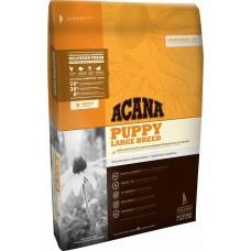 Acana Puppy Large Breed GRAIN FREE - суха храна с месо от Пиле, Яйца и Риба, за подрастващи кученца от едрите породи, Канада - 17 кг