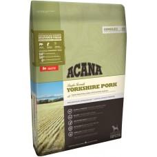 Acana Yorkshire Pork GRAIN FREE - суха храна за чувствителни кучета със свинско месо от порода Йоркшир за всички породи и възрасти, Канада - 11,4 кг
