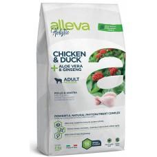 ALLEVA® HOLISTIC (ADULT MAXI) CHICKEN & DUCK + ALOE VERA & GINSENG - пълноценна храна за пораснали кучета над една година, от едри породи, Италия - 2 кг P00231
