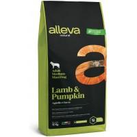 ALLEVA® NATURAL (ADULT MEDIUM/MAXI) LAMB & PUMPKIN - пълноценна храна за пораснали кучета, над 1 година, средни и едри породи, Италия - 12 кг P00218