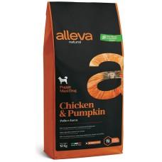 ALLEVA® NATURAL (PUPPY MAXI) CHICKEN & PUMPKIN - храна за подрастващи кучета, както и за бременни и кърмещи кучета от едри породи, Италия - 12 кг P00214