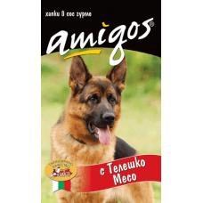 AMIGOS – ТЕЛЕШКО МЕСО, пълноценна храна за израснали кучета - консерва, АВСТРИЯ - 1240 гр