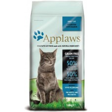 Applaws Adult Ocean Fish with Salmon GRAIN FREE - храна за котки над 1 година с 50% океански риби и сьомга 1,8 кг