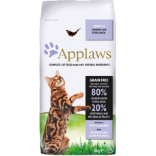 Applaws Adult, Chicken with Extra Duck GRAIN FREE - храна за котки над 1 година с 80% пиле и патица 2 кг