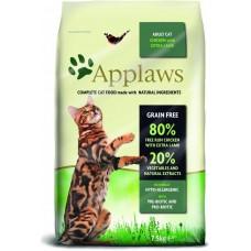 Applaws Adult, Chicken with Lamb GRAIN FREE - храна за котки над 1 година с 80% месо от свободно отглеждани пилета и агне 2 кг