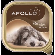 APOLLO – ПАСТЕТ 5 вида месо, пълноценна храна за израснали кучета, Германия - 300 гр