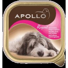 APOLLO – ПАСТЕТ Пуешко месо, говеждо и зеленчуци, пълноценна храна за израснали кучета, Германия - 300 гр