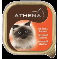 ATHENA – ПАСТЕТ Патешко и пуешко месо, пълноценна храна за израснали котки, Германия - 100 гр
