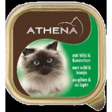 ATHENA – ПАСТЕТ Месо от дивеч и заек, пълноценна храна за израснали котки, Германия - 100 гр