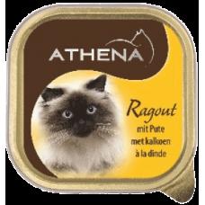 ATHENA – ПАСТЕТ РАГУ Пуешко месо – яхния с парченца, пълноценна храна за израснали котки, Германия - 100 гр