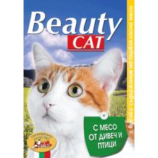 BEAUTY CAT – МЕСО ОТ ДИВЕЧ И ПТИЦИ, пълноценна храна за израснали котки, консерва, Австрия - 415 гр