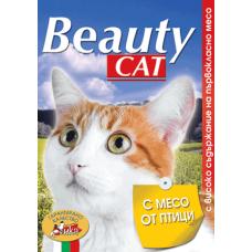 BEAUTY CAT – МЕСО ОТ ПТИЦИ, пълноценна храна за израснали котки, консерва, Австрия - 415 гр
