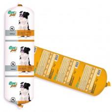 Салам за кучета BasPet с пиле, подходящ за пораснали кучета над 1 година, 1 кг, NUGAPE Испания