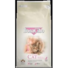 BONACIBO CAT ADULT LIGHT & STERILIZED - суха храна за кастрирани котки, или котки с наднормено тегло от всички породи, над 1 година - с пилешко месо и ориз, Турция - 5 кг