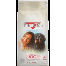 BONACIBO DOG ADULT HIGH ENERGY - суха храна за пораснали кучета от всички породи, над 1 година - ЕНЕРГИЙНА ФОРМУЛА с пиле, аншоа и ориз, Турция - 15 кг