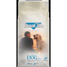 BONACIBO DOG ADULT CHICKEN, ANCHOVY & RICE - суха храна за пораснали кучета от всички породи, над 1 година - с пиле, аншоа и ориз, Турция - 15 кг