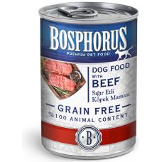 BOSPHORUS ADULT DOG FOOD with BEEF GRAIN FREE - консерва за кучета с вкусно, прясно говеждо БЕЗ ЗЪРНО, 415 гр Турция