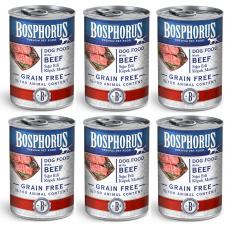 BOSPHORUS ADULT DOG FOOD with BEEF GRAIN FREE - КОМПЛЕКТ 6 бр консерви за кучета с вкусно, прясно говеждо БЕЗ ЗЪРНО, 6 x 415 гр Турция
