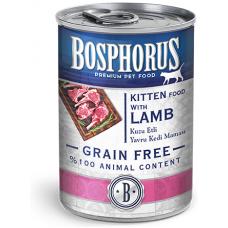 BOSPHORUS KITTEN FOOD with LAMB GRAIN FREE - консерва за подрастващи котенца с вкусно, прясно агнешко БЕЗ ЗЪРНО, 415 гр Турция