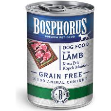 BOSPHORUS ADULT DOG FOOD with LAMB GRAIN FREE - консерва за кучета с вкусно, прясно агнешко БЕЗ ЗЪРНО, 415 гр Турция