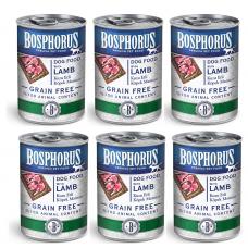 BOSPHORUS ADULT DOG FOOD with LAMB GRAIN FREE - КОМПЛЕКТ 6 бр консерви за кучета с вкусно, прясно агнешко БЕЗ ЗЪРНО, 6 x 415 гр Турция