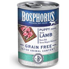 BOSPHORUS PUPPY DOG FOOD with LAMB GRAIN FREE - консерва за подрастващи кученца с вкусно, прясно агнешко БЕЗ ЗЪРНО, 415 гр Турция