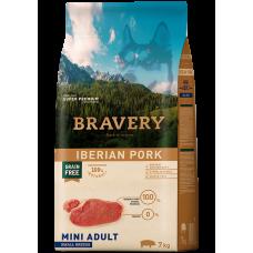 BRAVERY IBERIAN PORK ADULT DOG MINI, натурална, хипоалергенна храна, БЕЗ ЗЪРНО за пораснали кучета от дребни и мини породи над 1 година, с иберийско свинско месо, Испания - 2 кг
