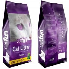 Cat Fun Lavender - калциев бентонит ЛАВАНДУЛА, с висока способност да се слепва на топче - 100% естествена, 5 кг - Турция