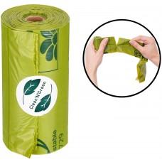 Clean and Green Dog Compostable Poop Bag, 100% Биоразградими / Компостируеми хигиенни торби за кучета, от ЦАРЕВИЧНО НИШЕСТЕ - АРОМАТИЗИРАНИ - 1 ролка х 15 торбички