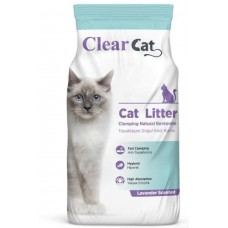Clear Cat Lavender - натриев бентонит ЛАВАНДУЛА, с висока способност да се слепва на топче - 100% естествена, 5 кг - Турция