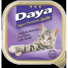 DAYA – Агнешко месо, пастет, пълноценна храна за котки, подходяща за ежедневна употреба, Германия - 100 гр