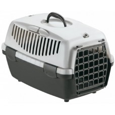 GULLIVER 1 - транспортна чанта за кучета и котки, с процеп за колан, 48 х 32 х 31Н см - СИВА STEFANPLAST Италия