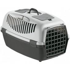 GULLIVER 2 - транспортна чанта за кучета и котки, с процеп за колан, 55 х 36 х 35Н см - СИВА STEFANPLAST Италия
