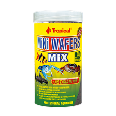 TROPICAL Mini Wafers Mix - вафли с астаксатин и спирулина за дънни риби и ракообразни