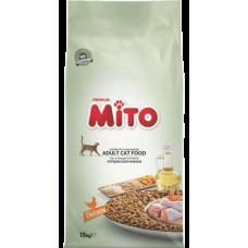 MITO CAT ADULT CHICKEN - суха храна за пораснали котки от всички породи, над 1 година - пилешко месо, Турция - 15 кг