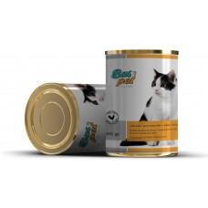 Консерва за котки BasPet с пиле, подходяща за пораснали котки над 1 година, 0,415 кг, NUGAPE Испания