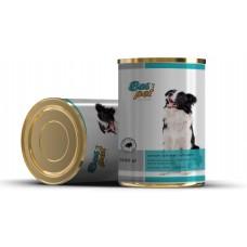 Консерва за кучета BasPet с говеждо, подходяща за пораснали кучета над 1 година, 0,415 кг, NUGAPE Испания