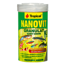 TROPICAL NANOVIT GRANULAT основна храна за малки риби и юноши