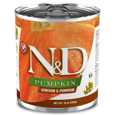 N&D Pumpkin Dog Venison & Pumpkin ADULT GRAIN FREE - консерва за пораснали кучета над 1 година, с еленско и тиква, БЕЗ ЗЪРНО, 285 гр Италия