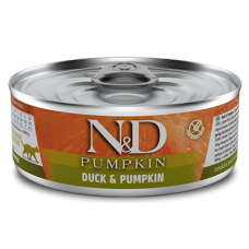 N&D Pumpkin Cat Duck & Pumpkin ADULT GRAIN FREE - консерва за пораснали котки над 1 година, с патица и тиква, БЕЗ ЗЪРНО, 80 гр Италия
