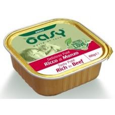 Oasy Adult Tasty Pate - пастет за пораснали котки, над 12 месеца, БЕЗ ЗЪРНО, с говеждо месо - 100 гр - Италия