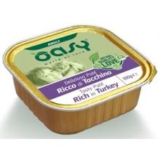 Oasy Adult Tasty Pate - пастет за пораснали котки, над 12 месеца, БЕЗ ЗЪРНО, с пуешко месо - 100 гр - Италия