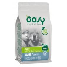 Oasy ADULT MEDIUM - LARGE Lamb Monoprotein пълноценна храна за пораснали кучета над 1 година, от средни и едри породи, с агнешно месо, БЕЗ ЗЪРНО, 12 кг - Италия