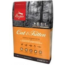 Orijen Cat & Kitten GRAIN FREE - суха храна за котки и бебета котенца с пиле, пуйка, яйца и риба, БЕЗ ЗЪРНО, Канада - 5,4 кг