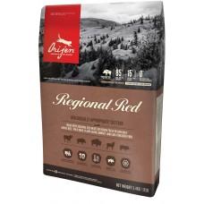 Orijen Cat Regional Red GRAIN FREE - суха храна за котки над една година, с червено месо (говеждо, глиган, бизон, агне, прасе) и риба, БЕЗ ЗЪРНО, Канада - 5,4 кг