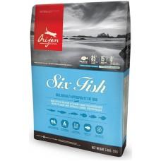 Orijen Cat Six Fish GRAIN FREE - суха храна за котки над една година, с шест вида риба, БЕЗ ЗЪРНО, Канада - 5,4 кг