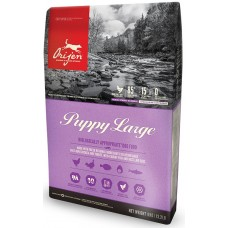 Orijen Dog Puppy Large GRAIN FREE - суха храна за подрастващи кучета от едри породи, до 18 месеца, с пиле, пуйка, яйца и риба, БЕЗ ЗЪРНО, Канада - 11,4 кг